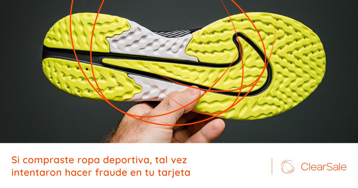 Si compraste ropa deportiva, tal vez intentaron hacer fraude en tu tarjeta